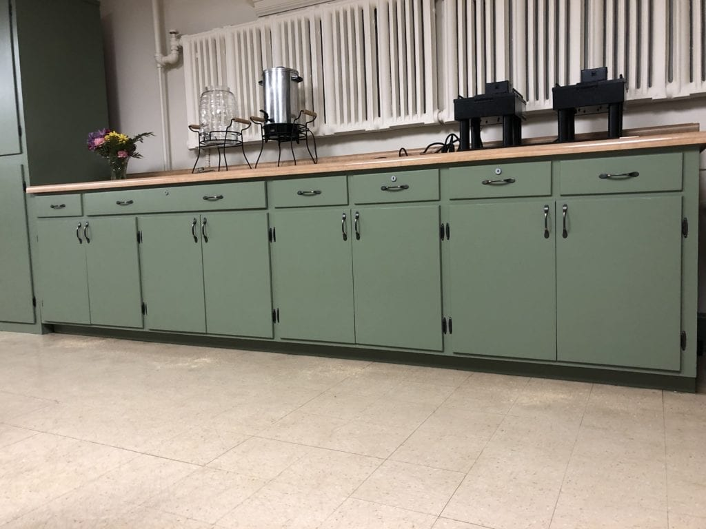 Green Cabinets by Artistic Home Finishes