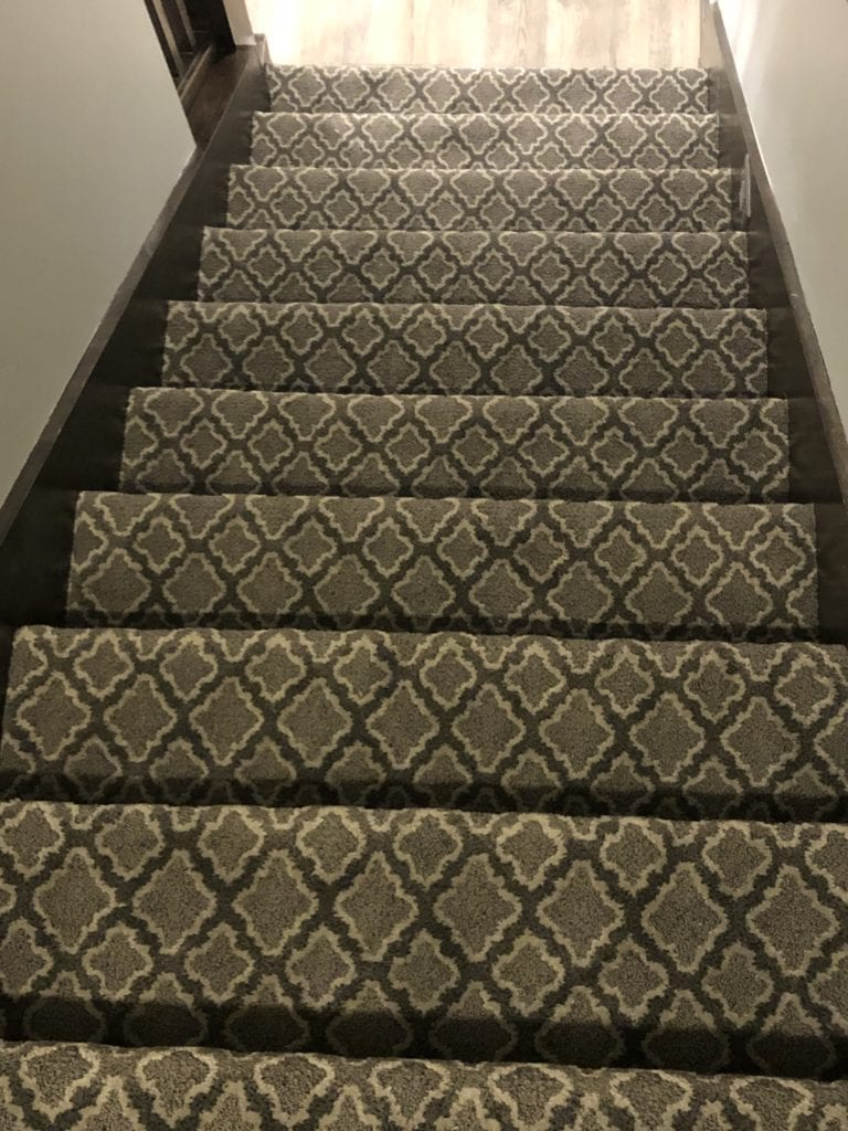 Stairway carpeting by Artistic Home Finishes