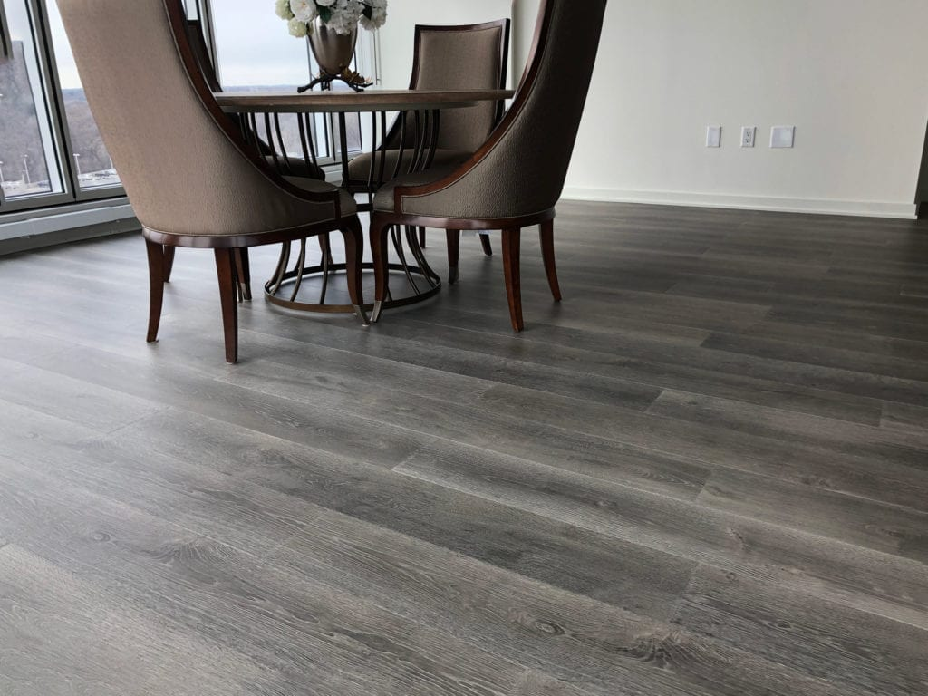 Dining area floor by Artistic Home Finishes