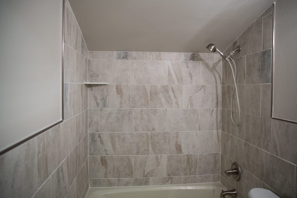 Shower tile wall