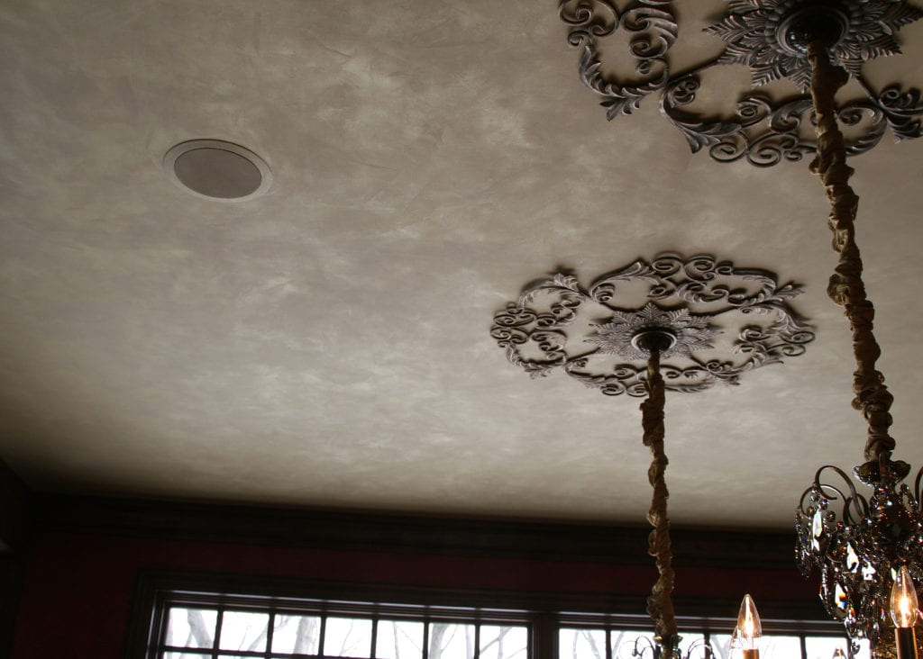 Moire wild silk metallic plaster