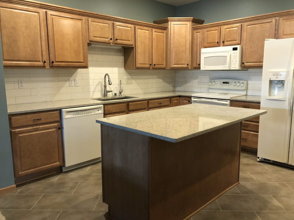 Counter top and subway tile